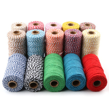 Colorful Cotton Cords  Bakers Twine String Rope For Christmas Decoration Gift Box Glass Bottle Packing DIY Material 100M 1 Roll