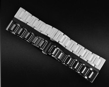 Watchbands 14mm 16mm 18mm 20mm Black White High Quality Ceramic Watch Band Strap Bracelets For Mens Lady Watch