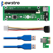 PCI-E 1x Slot 1x to 16x Riser Card Extender Extension Ribbon Flex Cable PCI Express Riser Card Adapter for BTC Miner Machine