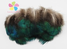 4-8cm DIY Earrings Jewelry Accessories handmade peacock Feathers decorative clothing accessories12pcs/lot 077051