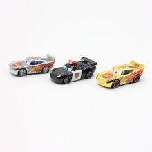 Pixar Cars  Gold Silver And Police Lightning McQueen Diecast Metal Toy Car For Children 1:55 Loose Brand New In Stock