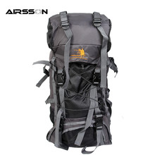 Airsson High Capacity Outdoor Sports Backpack Nylon Waterproof Ergonomic Adjustable Backpack Mountaineering Pouch Shoulder Bag