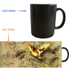 the lord of the rings Cup cold the lord of the rings mugs hot heat sensitive mug heat transforming heat changing color Ceramic