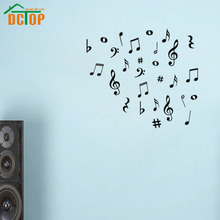 DCTOP 42 Vinyl MUSIC Musical NOTES Variety Pack Wall Decor Decal Sticker nursery wall decal kids room decoration wallpaper(China)