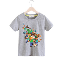 New Arrivals Children 100%Cotton Short Sleeves T-shirts Boy Girls Cartoon Game T Shirt Print Tee Tops Clothes Kids TShirt TX002(China)