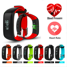 Fuster 2017 Newest Blood Pressure and Heart Rate Monitor Sport Fitness Smart Bracelet IP67 Waterproof Bluetooth Smart Band