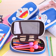 Creative Doraemon PU Leather Pencil Case Cute Kawaii Cartoon Pen Bag Novelty Stationery Pencil Bag Gifr for Children Pen Box