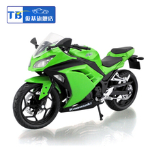 Brand New Cool 1/12 Scale Diecast Motorcycle Model Toys Kawasaki Ninja 250 Green Color Motorbike Metal Model Toy For Gift/Kids