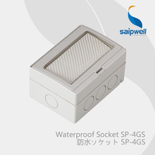 Wholesale Saipwell AC 110-250V 20A IP55 waterproof 4 postion energy saving dual control light wall switch box for 86mm SP-4GS(China)