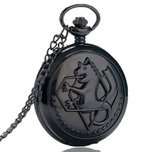 2016 Fashion Animate Fullmetal Alchemist Multi Styles Quartz Pocket Watch Men Women Pendant Xmas Gifts With Necklace Chian