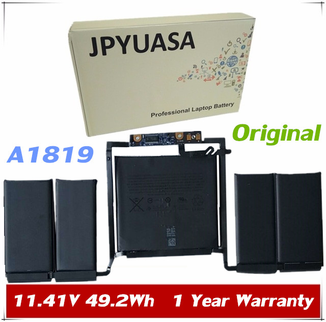 JPYUASA 11.41V 49.2Wh 4314mAh Original A1819 A1706 Laptop Battery For MacBook Pro 13'' Touch Bar A1706 2016 year with tools