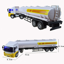 Engineering transport vehicle car toys long tanker model hardware Diecast Metal Car toy Gifts For boys Kids children wholesale(China)