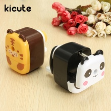 Kicute Funny Animal Cartoon Hand Crank Pencil Sharpener Desk Manual Pencil Sharpener Home Office School Stationary Kids Gifts