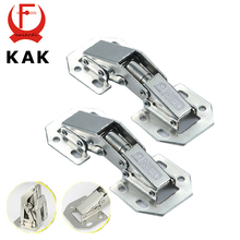 KAK-A99 90 Degree 3 Inch No-Drilling Hole Cabinet Hinge Bridge Shaped Spring Frog Hinge Full Overlay Cupboard Door Hinges