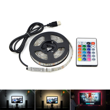 MALITAI 5050 USB LED Strip Ribbon Lights DC5V Tape Lamp Tira Adhesiva Rope Led Lights TV Background Decoration RGB /White/Warm(China)
