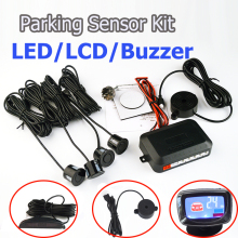 Viecar Car LED Parking Sensor Kit 4 Sensors 22mm Backlight Display Reverse Backup Radar Monitor System 12V 7Colors Free Shipping(China)
