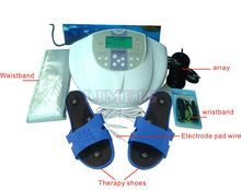 hight quality ion cleanser foot detox spa machine,ionic foot detox massager device with massage slipper(China)