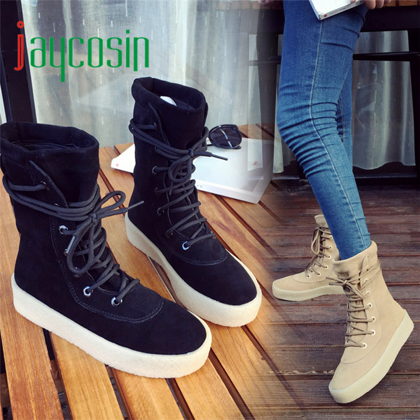 High quality Handmade Winter Crepe Bottom Women Boots Casual Season Fashion Boots 170210<br><br>Aliexpress