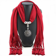 2015 New Arrival Charms Scarf Water Flower Pendant Scarf Jewelry Scarves Necklace Scarf Free Shipping D-2001