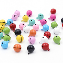 10Pcs Colorful Iron Loose metal Beads Jingle Bells Christmas Decoration Pendants DIY Crafts Handmade Accessories Size 13*13mm