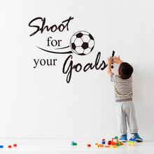 shoot for your goals inspirational quotes football vinyl wall stickers for living room diy home decor wall art removeable decals