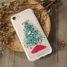 CASEIER Christmas Phone Case For iPhone 7 6 6S Plus iPhone 5S SE 5 Cases For Samsung Galaxy S6 S7 Edge Cute Cover Accessories(China)