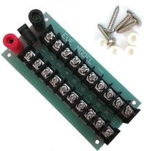 1 Set Power Distribution Board 3 Inputs 2 x 10 Outputs for DC and AC Voltage NEW model train ho scale PCB005  railway modeling