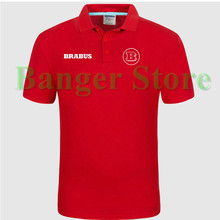BRABUS car logo Polo shirt 4S shop short sleeved polo shirt overalls women and mens