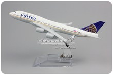 Brand New 1/400 Scale Airplane Model Toys United Airlines Boeing B747 (16cm Length) Diecast Metal Plane Model Toy For Gift/Kids