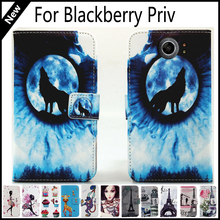 For Blackberry Priv Wallet Card Slots Book Style Flip PU Leather Case Cover Phone Case Fashion !