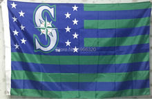 Baseball Seattle Mariners Stars and Stripes One Sided Banner Large Outdoor MLB 3ft x 5ft 144* 96cm Custom flag