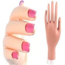Pro Practice Nail Art Hand Soft Training Display Model Hands Flexible Silicone Prosthetic Personal Salon Manicure Tools Hot