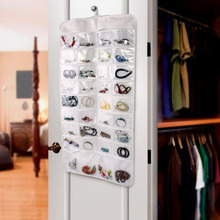 72 Pockets Hanging Jewelry Organizer Gadgets Ring Necklace Holder w/ Hook hot sale free shipping