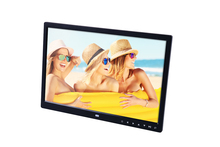 Fashion 15'' HD LED Touch Control Multimedia Digital Photo Frame Music Video Photo Display Clock Calendar E-book.