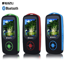 Factory Price RUIZU X06 MP3 Player 8GB Bluetooth Sports MP3 music Player 1.8 Inch 100hours high quality lossless Recorder FM(China)