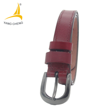 [CNYANGCHENG] narrow red soft leather ladies belt fashion women belts for dress nice clothing design belts ladies belt 2017(China)