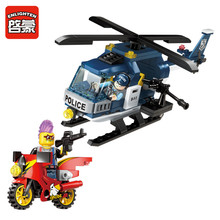Enlighten Building Block City Police Car Thunder Sniper Helicopter 2 Figures 150pcs MOC Educational Brick-Without Original Box