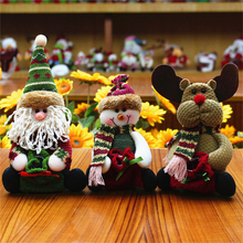 1Pcs Christmas Decoration Santa Claus Snow Man Reindeer Doll Ornaments Pendant Xmas New Year Gift Regalos De Navidad For Home
