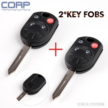 2 Set Case Only Keyless Entry Remote Head Key Fob Combo Transmitters For Ford