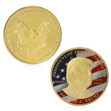 Golden Donald Trump Make Great President America Commemorative Challenge Coin(China)