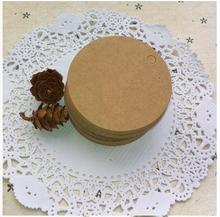 5cm Mini Wedding Decoration 200pcs/lot Brown Black white Kraft Paper Tags Round Label Wedding Gift Hang Tag DIY Food Tag