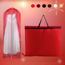 Free Shipping! Extra long Foldable Garment Bag for Wedding dress/wedding gown, dust cover/storage, red & purple color~~~