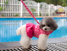 New  Thickening ultra soft print dress style pet dog protection type chest traction suit dogs to pull back