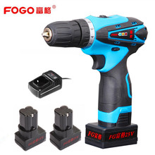 FOGO 25v Rechargeable Lithium Battery*2 hand Cordless Electric Drill Electric Screwdriver Torque drill Screw driver power tool