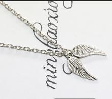 Buy New Charms Vintage Antique Silver Guardian Angel Wings Pendant Chain Necklace Women Gift (10 pcs ) for $12.99 in AliExpress store