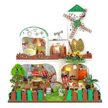 Diy Doll House Villa Model Include Furniture Led Miniature 3D Puzzle Wooden Dollhouse Creative Birthday Gifts Toys Dollhouses