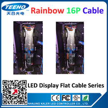 10pcs/lot flat cable rainbow 16P for display sign 10cm 16pin led display modules small pitch P2 P2.5 P3 P3.91P4.81 P5 P6 P8 P10(China)