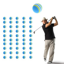 10pcs Indoor Practice Traning Elastic Rainbow Stripe Golf Sponge Foam Ball Light-weight wholesale