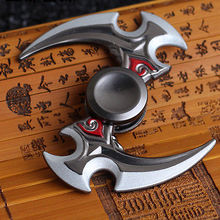 NEW HOT Aluminum Alloy Fidget Hand Finger Tri Spinner Focus Stress Toys For Kids Adults Accept Drop Shipping