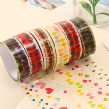 6 Pattern Bekyoot Washi Pvc Roll DIY Decor Scrapbooking Sticker Masking Tape Adhesive School Office Stationery Tape Wholesale(China)